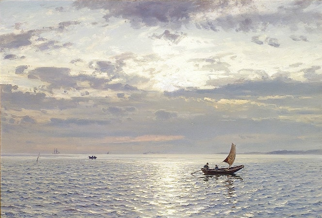 Amaldus Clarin Nielsen, Evening Seascape, 1899