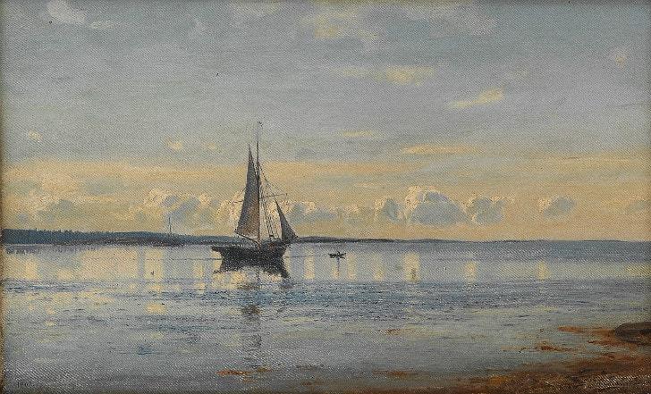 Amaldus Clarin Nielsen, Morning In Fredrikstad, 1902