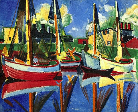 Max Pechstein - Fishing Boats