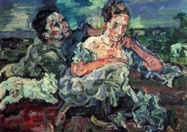 Oskar Kokoschka - Lovers with cat