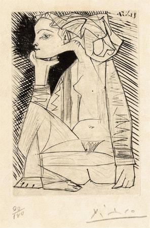 Pablo Picasso - Femme Assise En Tailleur - Genevieve Laporte