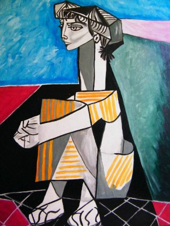 Pablo Picasso - Portrait of Jacqueline Roque With Her Hands Crossed