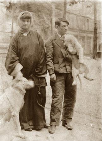 Pablo Picasso ve Fernande Olivier Montmartre