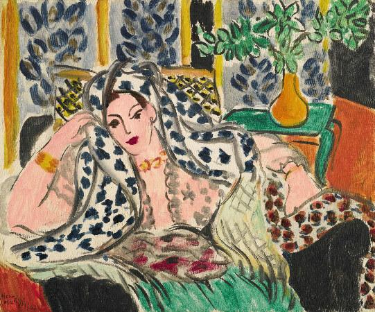 Henri Matisse - Odalisque Au Fauteuil Noir, 1942
