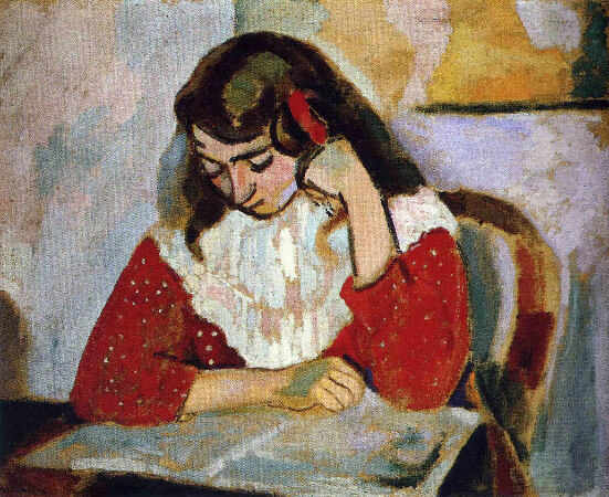 Henri Matisse - The Reader, Marguerite Matisse, 1906