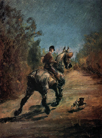 Horse and Rider with a Little Dog, 1879