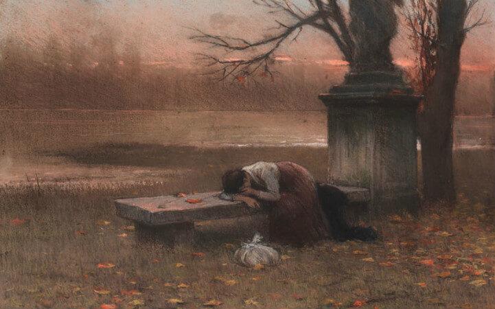 Jakub Schikaneder - Abandoned, 1890