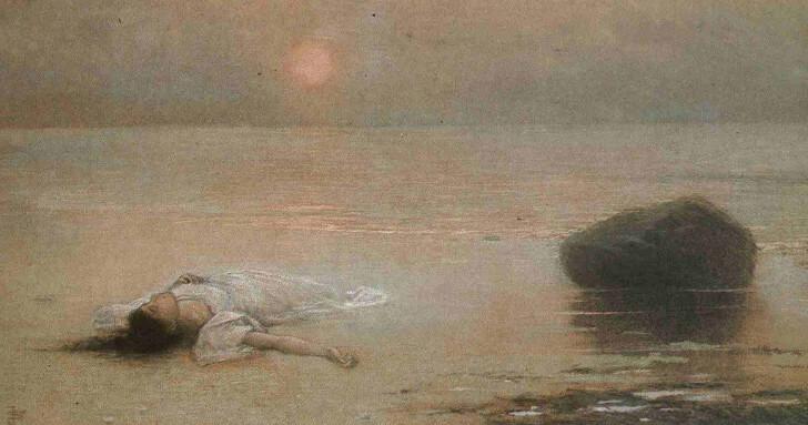 Jakub Schikaneder - Drowned, 1895