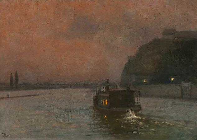 Jakub Schikaneder - Under the Vysehrad rock after, 1905
