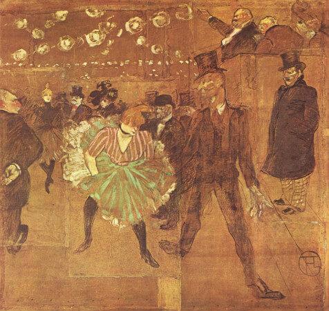La danse au Moulin Rouge, 1895