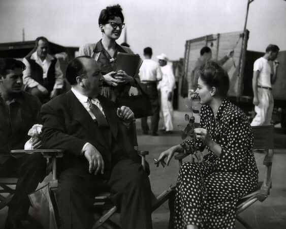 alfred hitchcock, esi ve tallulah bankhead