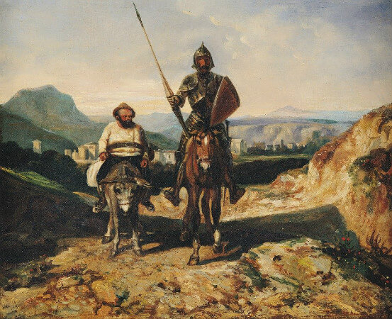Alexandre Gabriel Decamps, Don Quixote and Sancho Panza