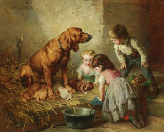 Carl Reichert, Seeing After The Puppies