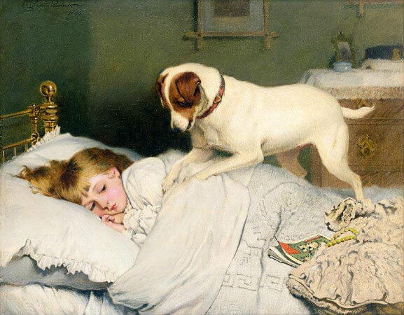Charles Burton Barber, Time To Wake Up, 1883