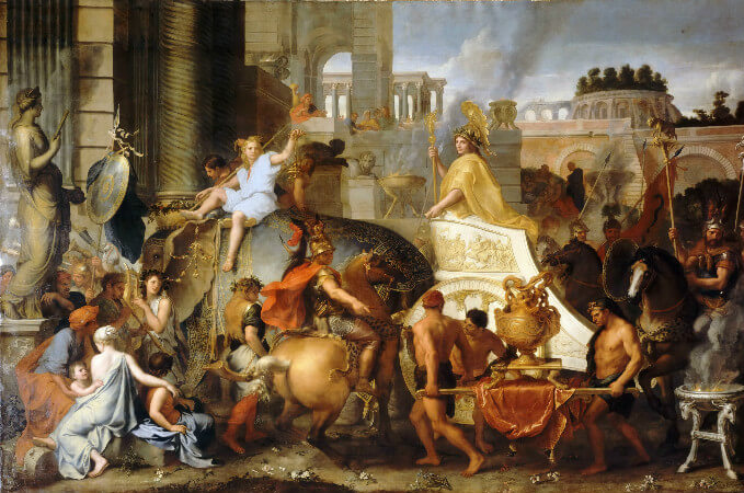 Charles Le Brun, The Triumph of Alexander or The Entrance of Alexander, 1664