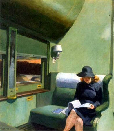 Edward Hopper, Compartment C Car, 1938