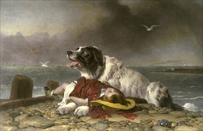 Edwin Henry Landseer, Saved, 1856
