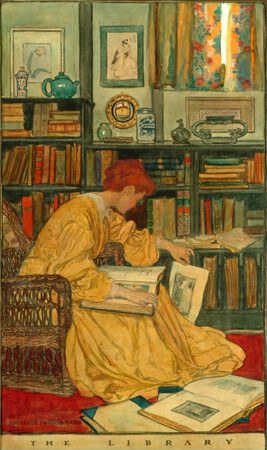 Elizabeth Shippen Green, The Library, 1905