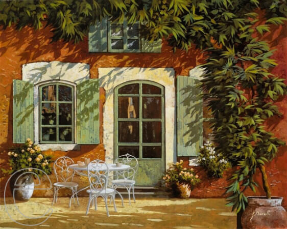 Guido Borelli, Al fresco in cortile