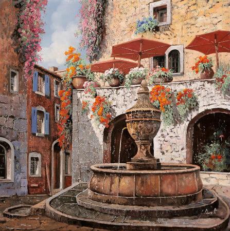 Guido Borelli, la fontana a St Paul de Vence