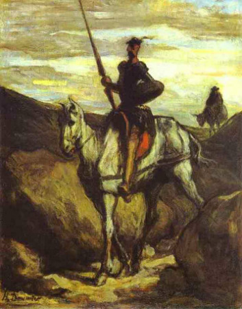 Honore Daumier, Don Quixote In The Mountains, 1850.2