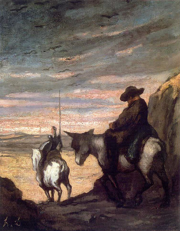 Honore Daumier, Don Quixote and Sancho Panza, 1868