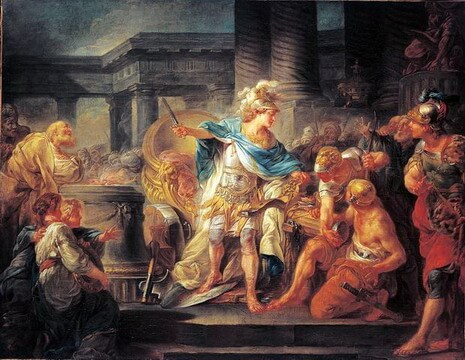 Jean-Simon Berthelemy (1743–1811), Alexander Cuts The Gordian Knot