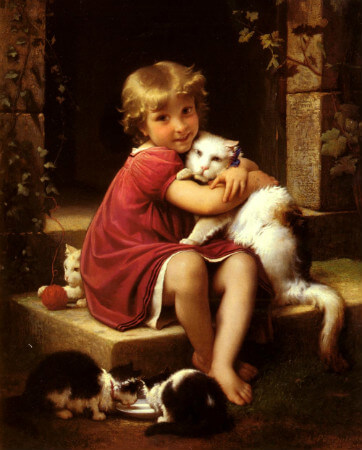 Leon Jean Bazille Perrault, Her Favourite Pet