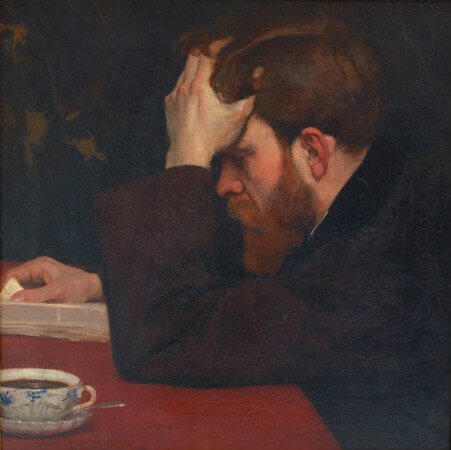 Lionello Balestrieri, Man Reading