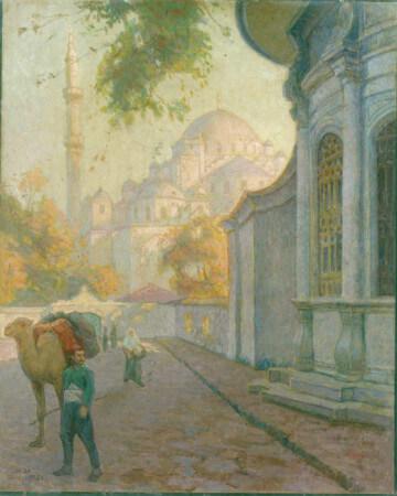 Naksidil Sultan Sebili onunden Fatih Camii, huseyin avni lifij