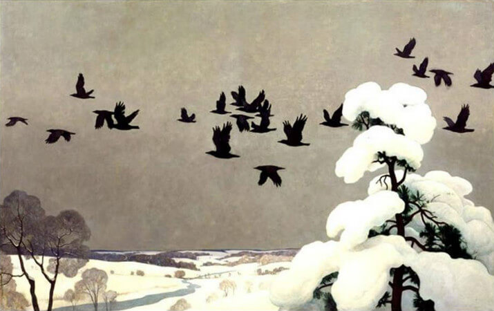 Newell Convers Wyeth, Crows in Winter