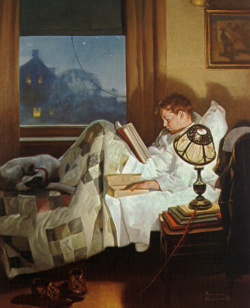 Norman Rockwell, Crackers in Bed