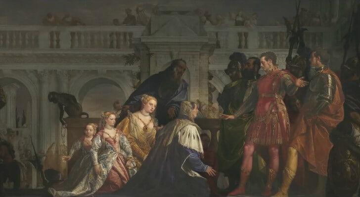 Paolo Veronese, Buyuk iskender onunde Darius Ailesi (1565 - 1570)