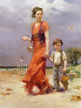 Pino Daeni - A Day At The Beach