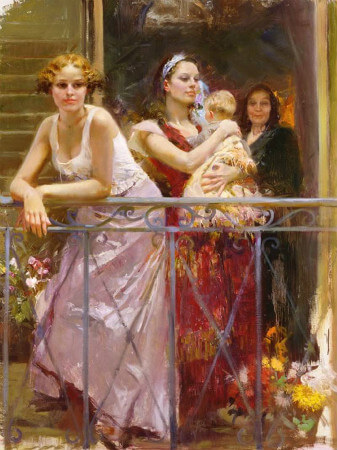 Pino Daeni, Waiting On The Balcony