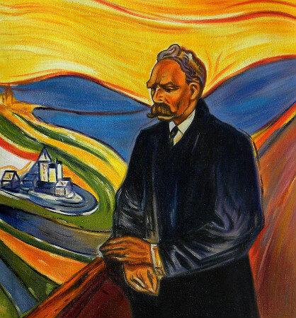 Portrait of Friedrich Nietzsche, Edvard Munch, 1906