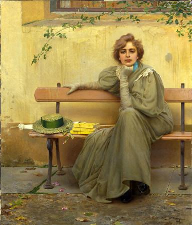 Vittorio Matteo Corcos, Sogni (Dreams), 1896