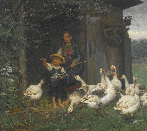 Wilhelm Schutze, Feeding The Geese