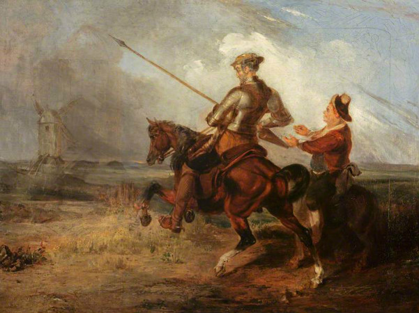 William Stewart Watson, Don Quixote Tilting At A Windmill