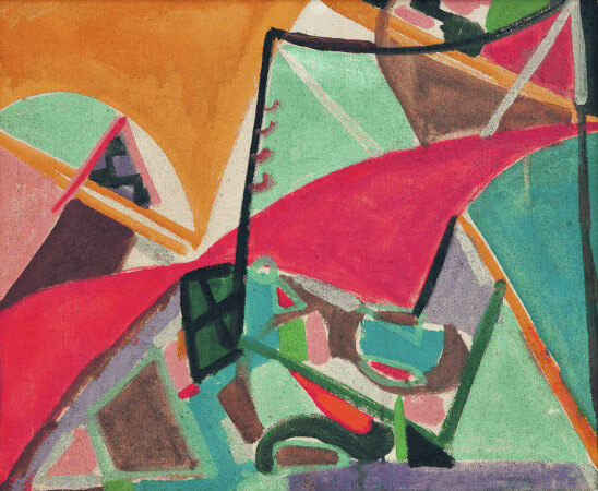 nejad melih devrim - soyut kompozisyon, 1949
