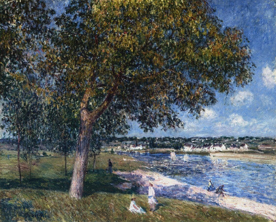 Alfred Sisley, Walnut Tree in A Thomery Field, 1880