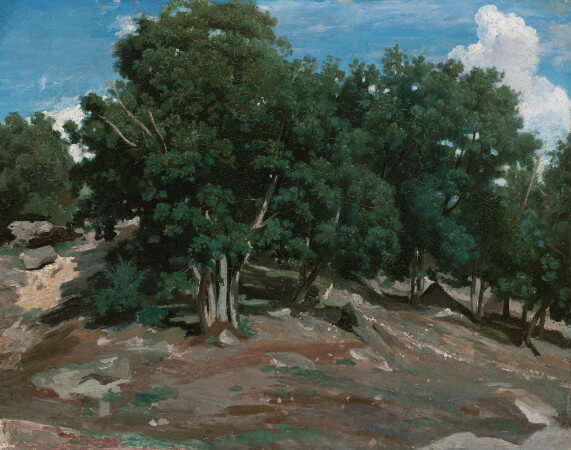 Camille Corot, Oak Trees At Bas-Breau, 1832-33