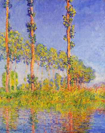 Claude Monet, Three Poplar Trees in The Autumn,1891