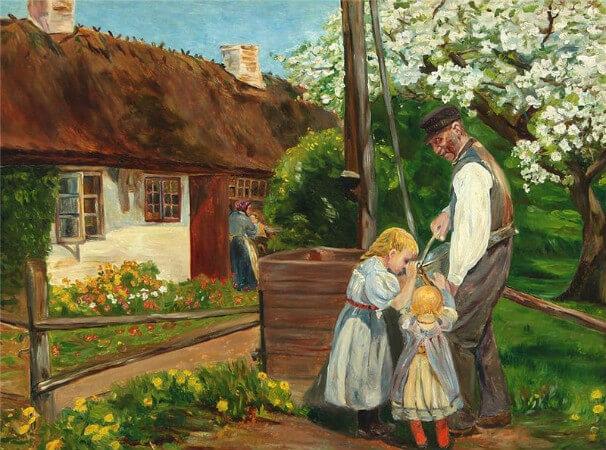 Hans Andersen Brendekilde, Gathering Water From The WellGathering Water From the Well
