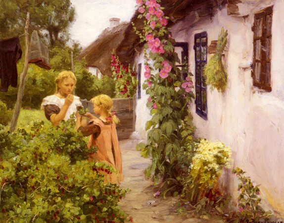 Hans Andersen Brendekilde, The Cottage Garden