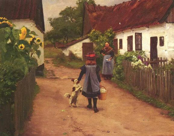 Hans Andersen Brendekilde, Visiting Grandmother