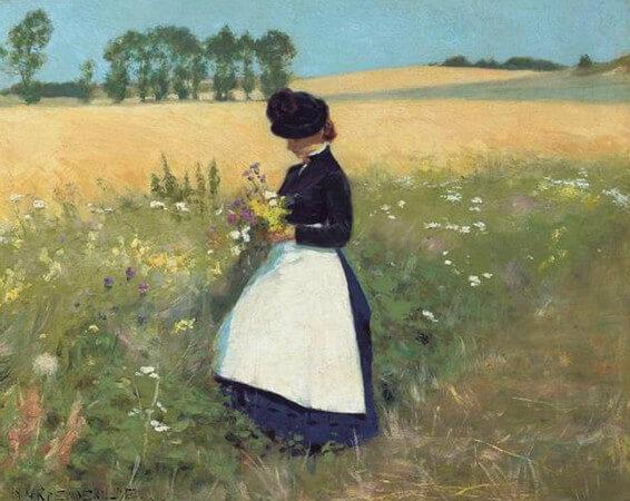 Hans Andersen Brendekilde, in The Cornfield