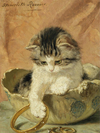 Henriette Ronner-Knip, Kitten and Jewellery