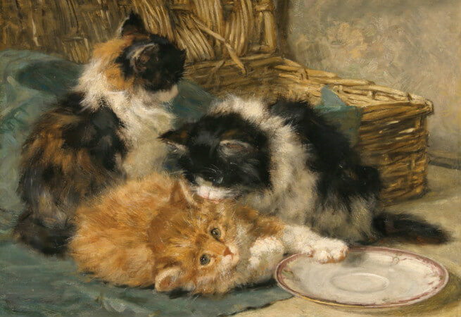 Henriette Ronner-Knip, Kittens At Play