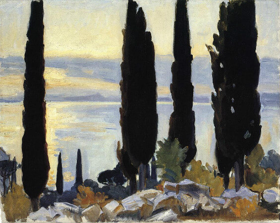 John Singer Sargent, Cypress Trees At San Vigilio, 1913